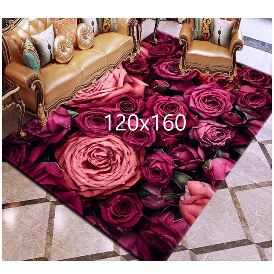 Tapis de rose, rose 120x160
