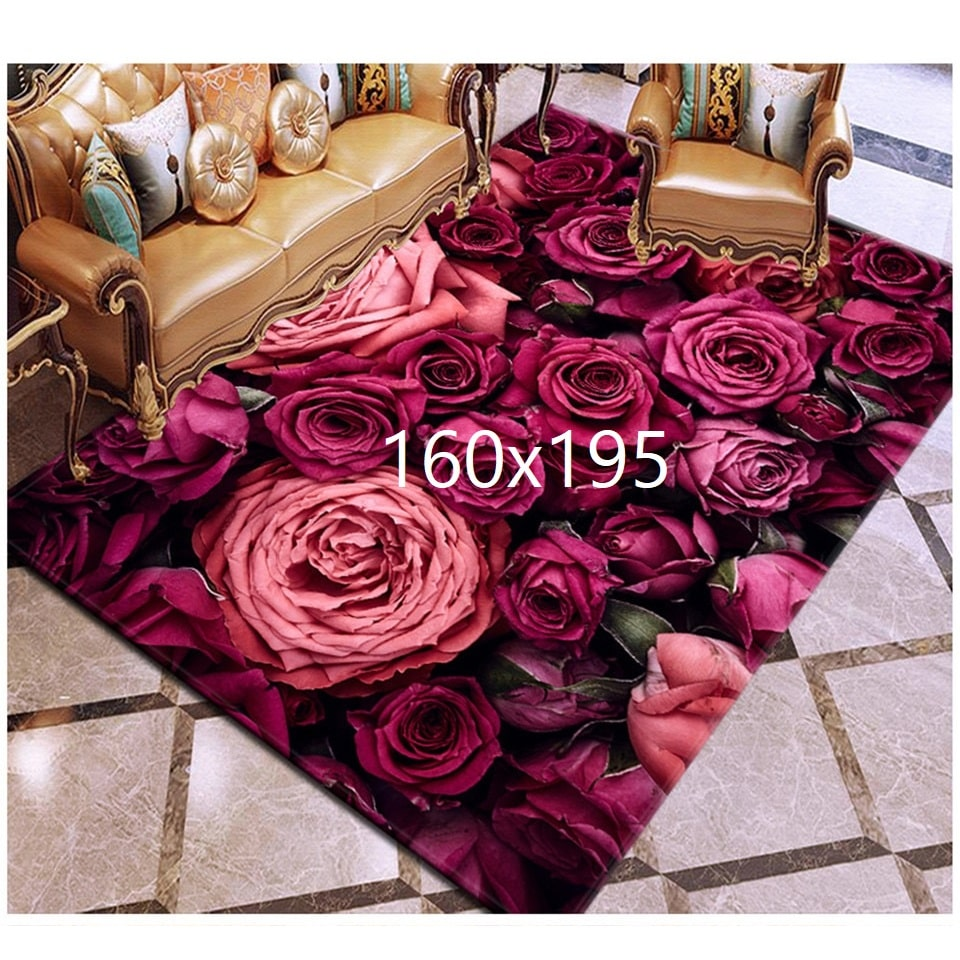 Tapis de rose, rose 160x195