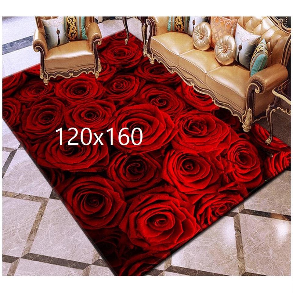 Tapis de rose, rose rouge 120x160