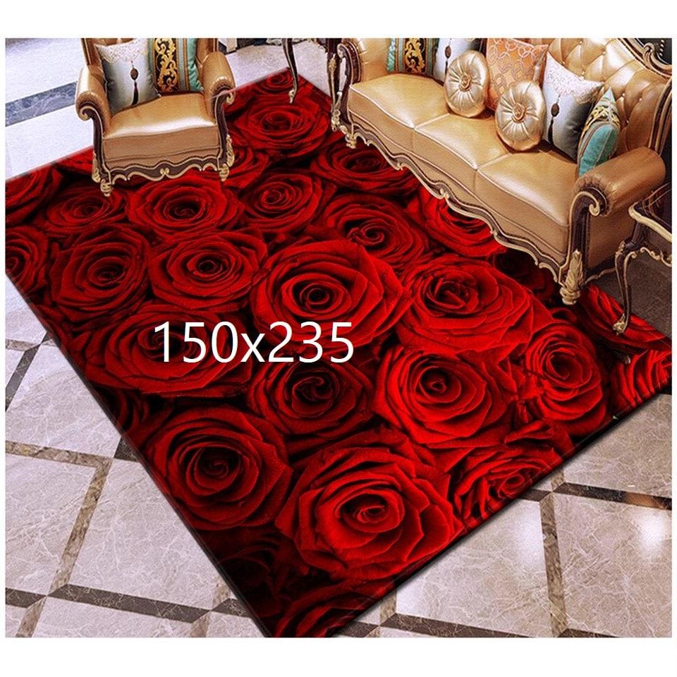 Tapis de rose, rose rouge 150x235