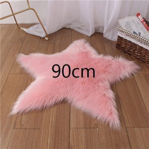 Tapis étoile rose clair 90cm