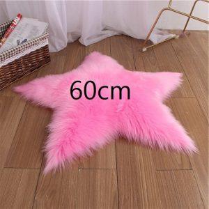 Tapis étoile rose foncé 60cm