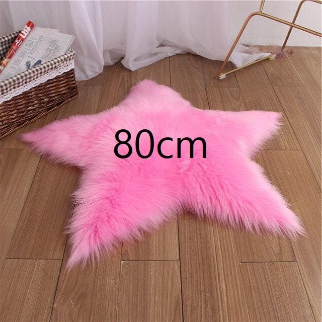 Tapis étoile rose foncé 80cm