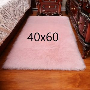 Tapis fourrure rose, 40x60