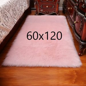 Tapis fourrure rose, 60x120