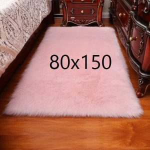 Tapis fourrure rose, 80x150
