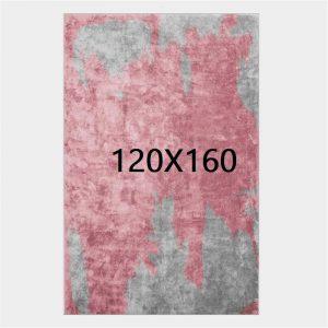 Tapis gris et rose, 120X160