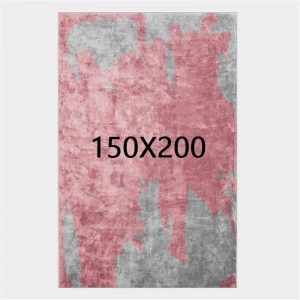 Tapis gris et rose, 150X200