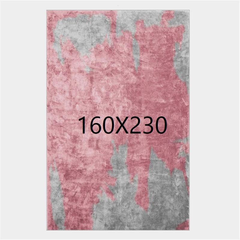 Tapis gris et rose, 160X230