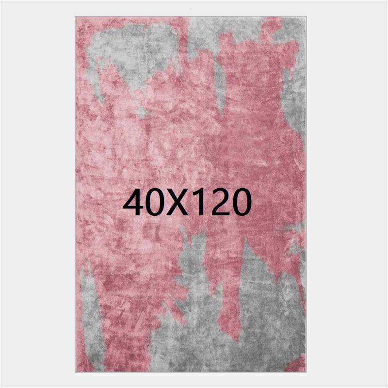 Tapis gris et rose, 40X120