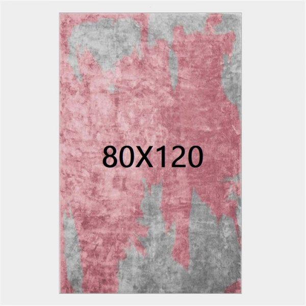Tapis gris et rose, 80X120