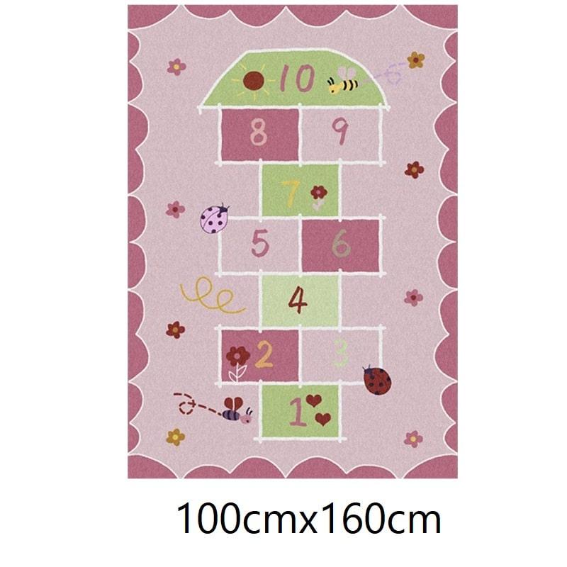 Tapis marelle rose, 100cmx160cm