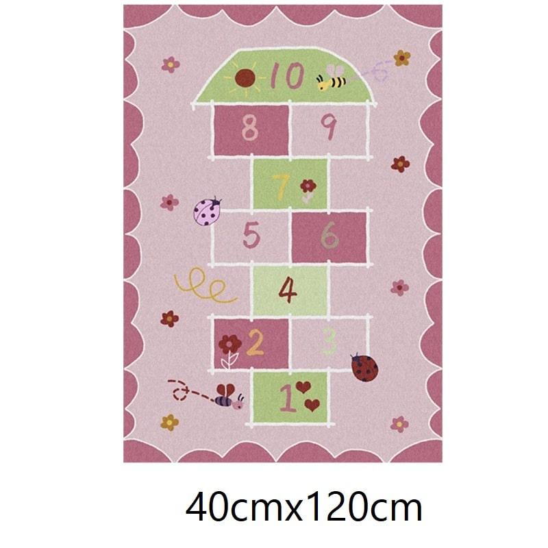 Tapis marelle rose, 40cmx120cm