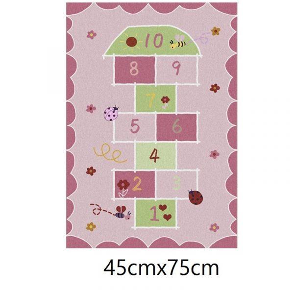 Tapis marelle rose, 45cmx75cm