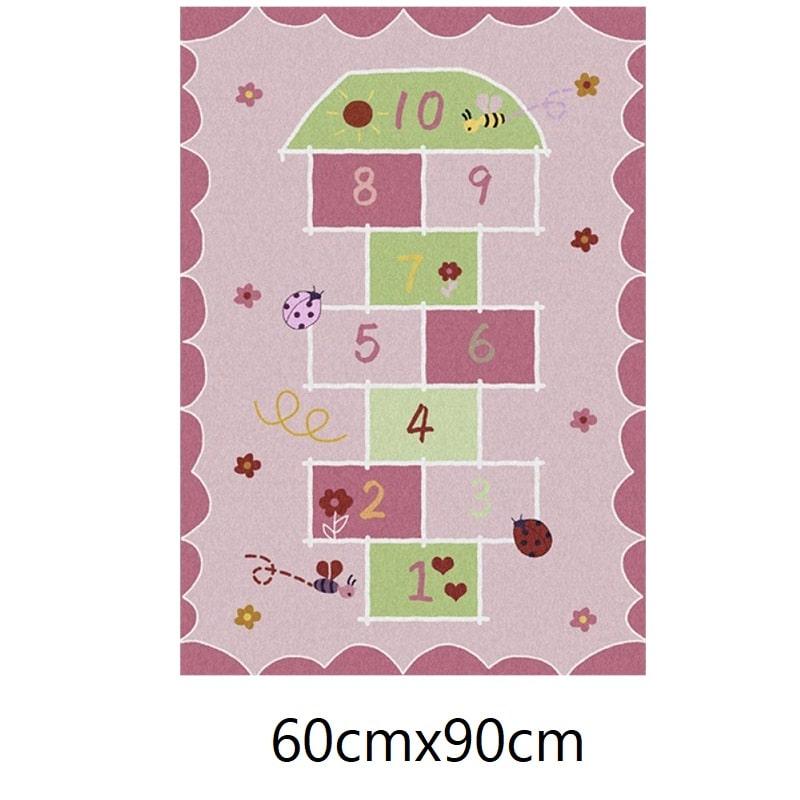 Tapis marelle rose, 60cmx90cm