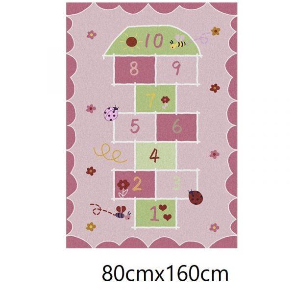 Tapis marelle rose, 80cmx160cm