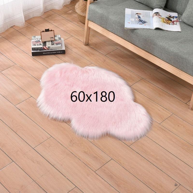 Tapis nuage rose, rose 60x180