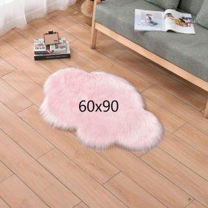 Tapis nuage rose, rose 60x90