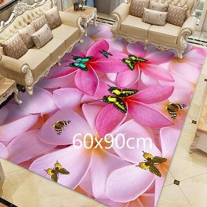 Tapis papillon rose, 60x90cm