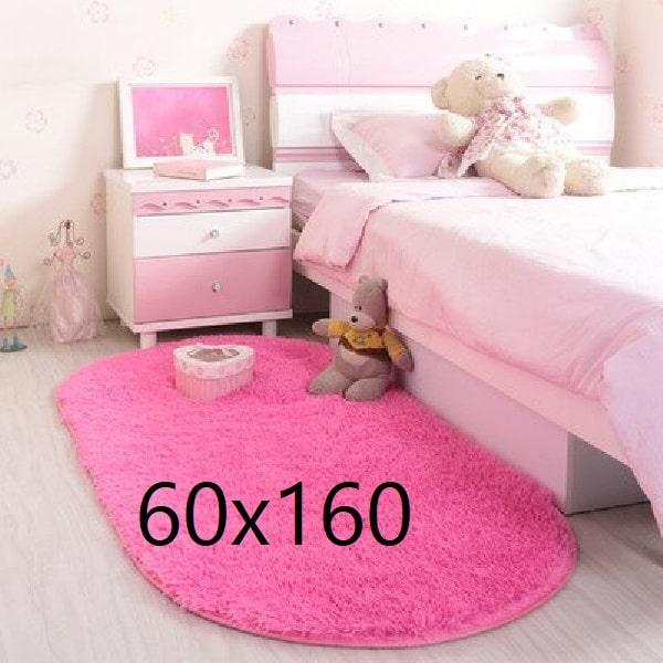 Tapis rose chambre fille, fuchsia 60x160