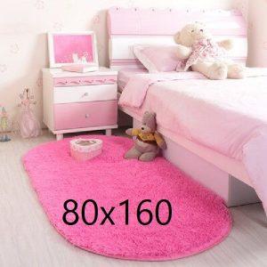 Tapis rose chambre fille, fuchsia 80x160