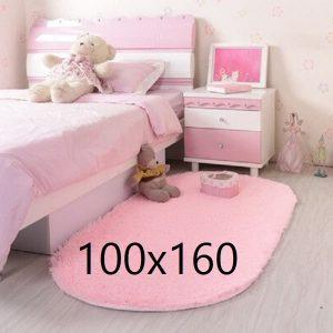 Tapis rose chambre fille, rose poudré 100x160