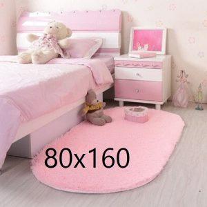 Tapis rose chambre fille, rose poudré 80x160