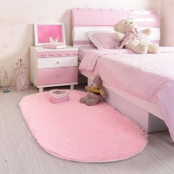 Tapis rose chambre fille