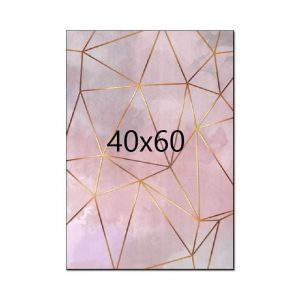 Tapis rose et doré 40x60