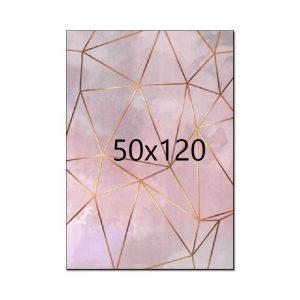 Tapis rose et doré 50x120