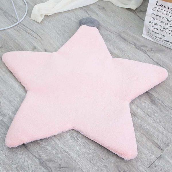 Tapis rose étoile