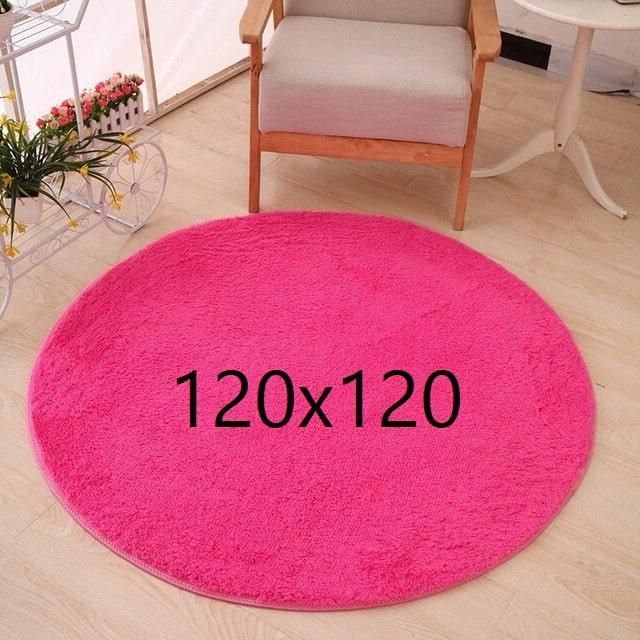 Tapis rose fushia 120x120