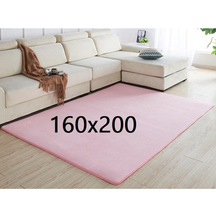 Tapis rose pâle 160x200
