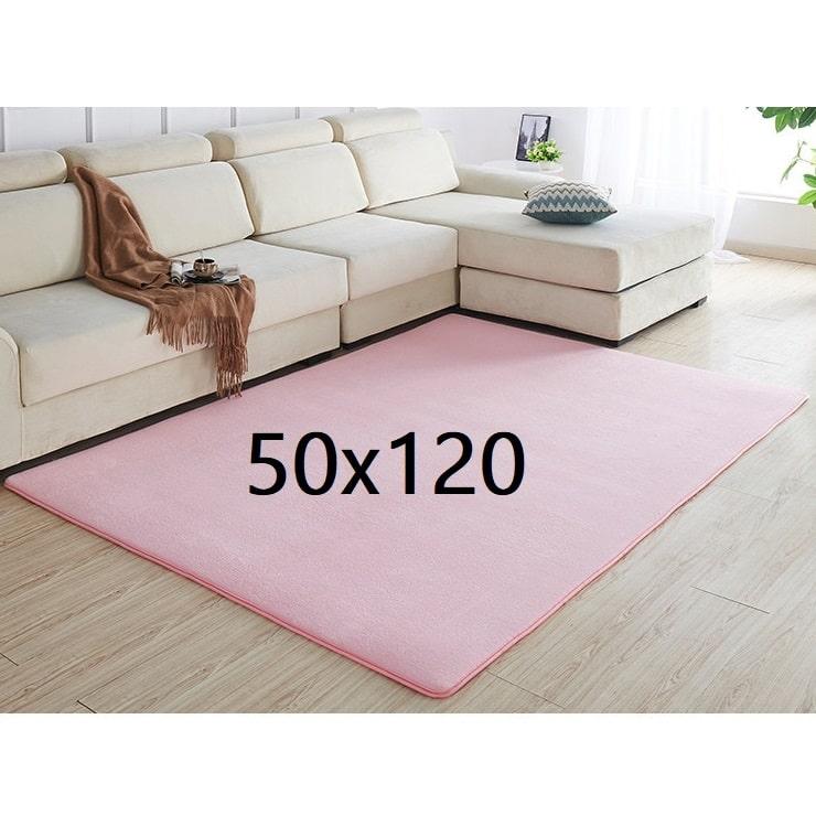 Tapis rose pâle 50x120