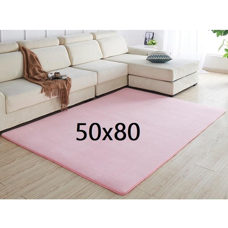 Tapis rose pâle 50x80
