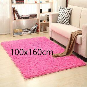 Tapis salon rose 100x160cm