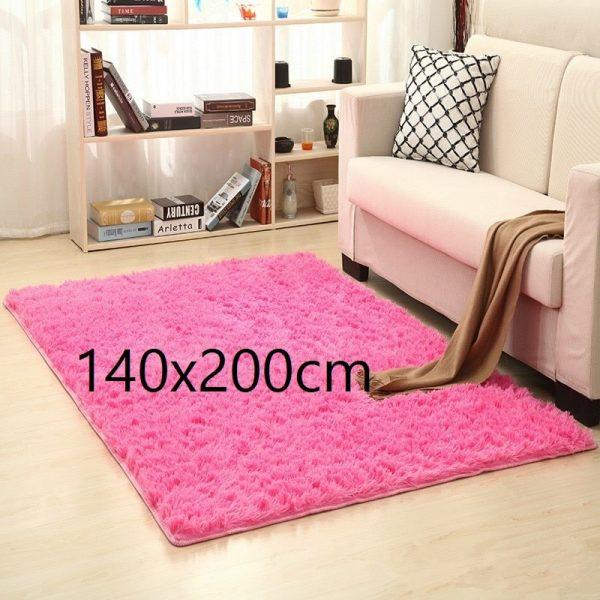 Tapis salon rose 140x200cm