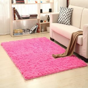 Tapis salon rose