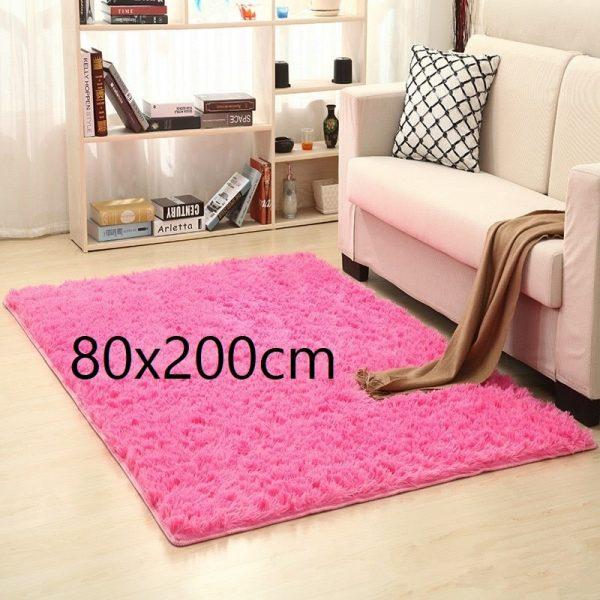 Tapis salon rose 80x200cm