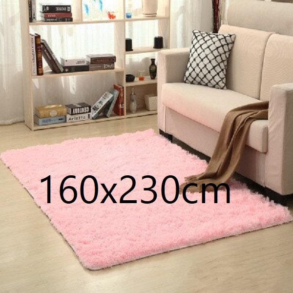 Tapis salon rose pale 160x230cm