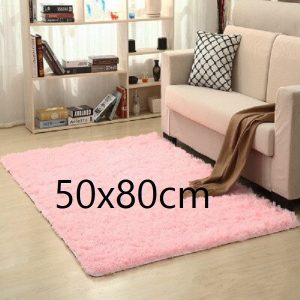Tapis salon rose pale 50x80cm