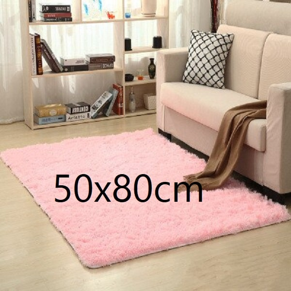 Tapis salon rose pale 50x80cm