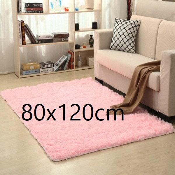 Tapis salon rose pale 80x120cm