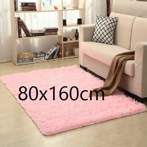 Tapis salon rose pale 80x160cm