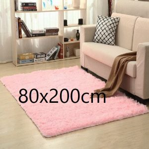 Tapis salon rose pale 80x200cm