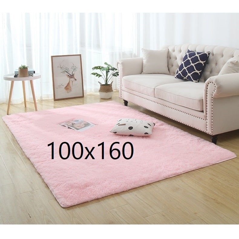 Tapis shaggy rose, 100x160