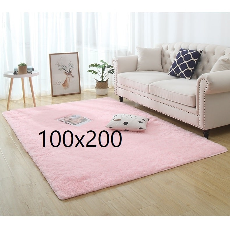 Tapis shaggy rose, 100x200