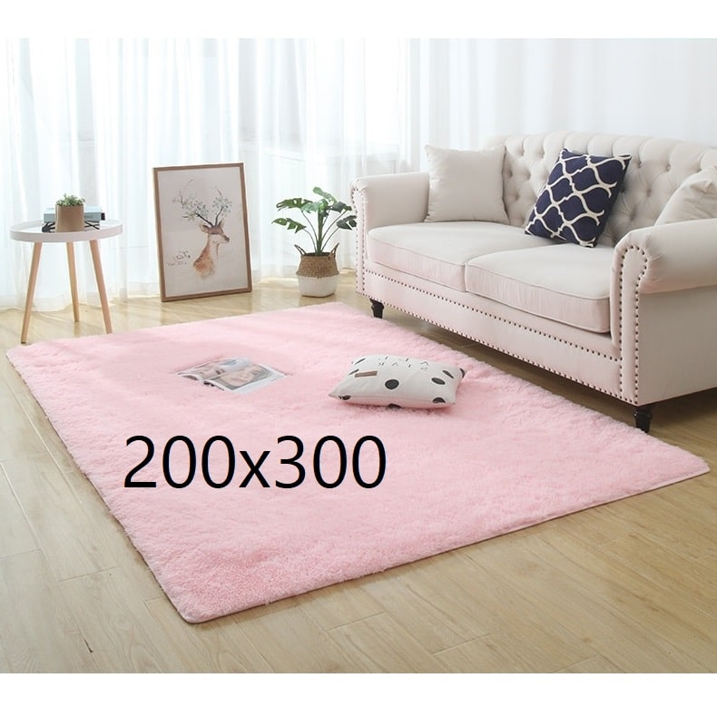 Tapis shaggy rose, 200x300
