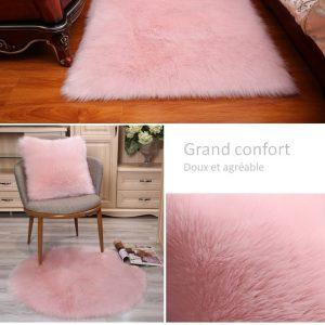 tapis-fourrure-doux-de-couleur-rose